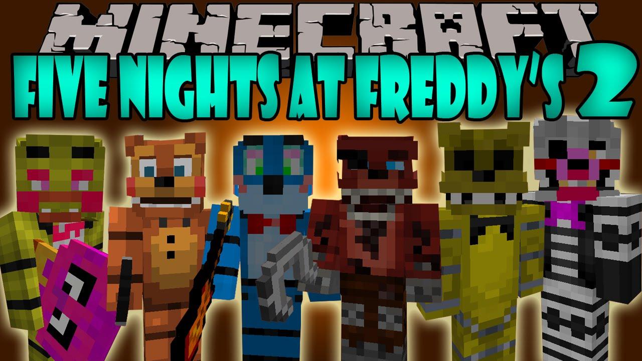 Five nights at freddy s 2 mod los nuevos animatronics minecraft