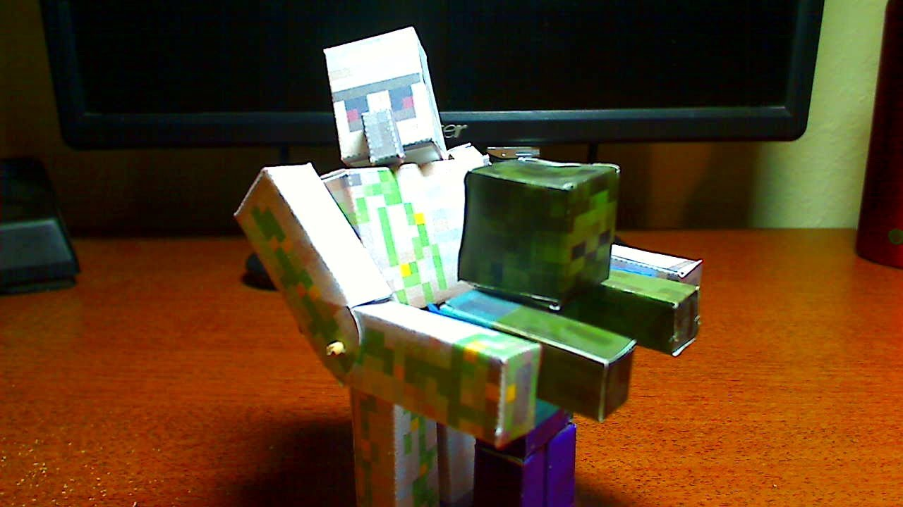 How To Make A Minecraft Papercraft Bendable Iron Golem Doovi