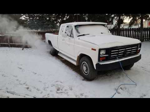 1984 Ford f250 6.9l diesel cold start