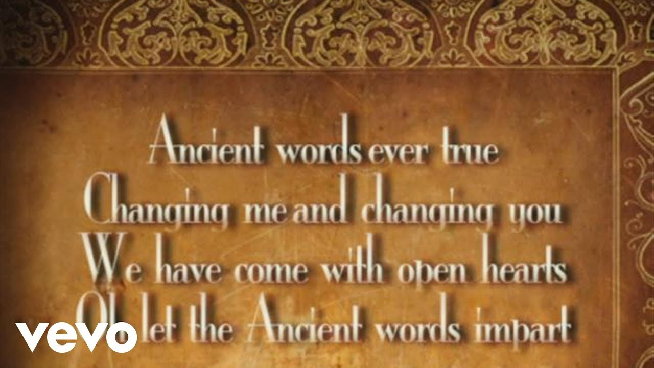 ancient words piano sheet music pdf