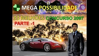 MEGA possibilidade concurso 2097 da mega sena - PARTE 1.