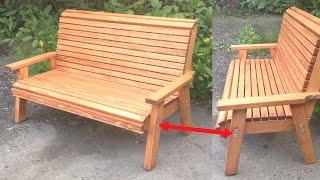 ✅Лавочка своими руками. Скамейка своими руками. Wooden bench diy