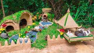 Rescue Abandoned Rabbit And Build the Rabbit Hut with Rabbit Playground Yard
