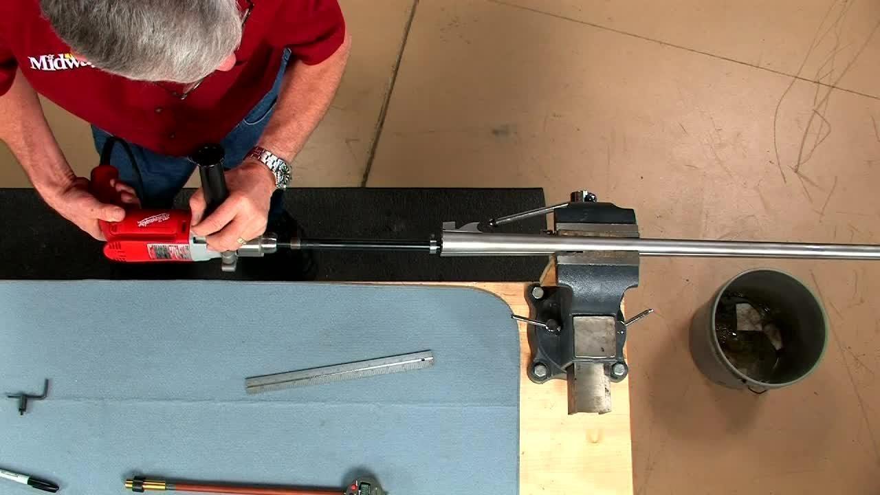 Gunsmithing Repairing Pitting In A Shotgun Barrel Youtube