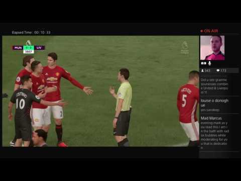 Manchester United vs Liverpool FIFA 17 Predicts