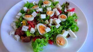 Полезный и вкусный САЛАТ С ПЕРЕПЕЛИНЫМИ ЯЙЦАМИ, помидорами и тунцом