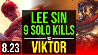 LEE SIN vs VIKTOR (TOP) | 3 early solo kills, 9 solo kills, Dominating | EUW Master | v8.23
