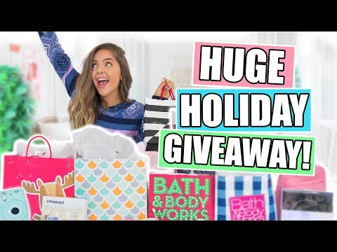 Huge Christmas GIVEAWAY! Holiday Gift Guide + Haul 2017