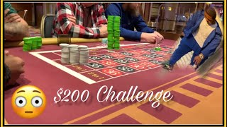 Live Roulette The $200 Challenge