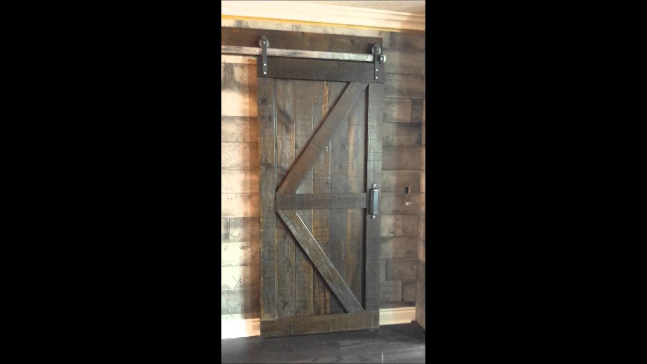 & Double Z Braced Barn Door By REBARN - YouTube