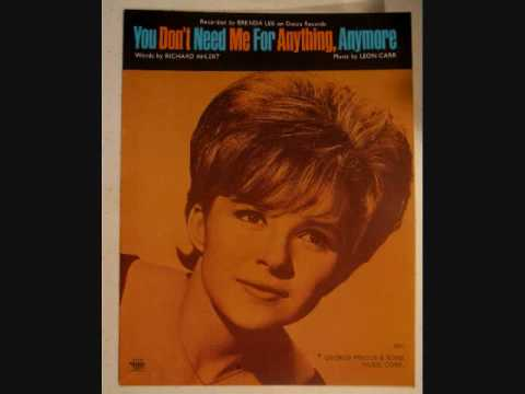 Brenda Lee - You Don't Need Me For Anything Anymore (1969)