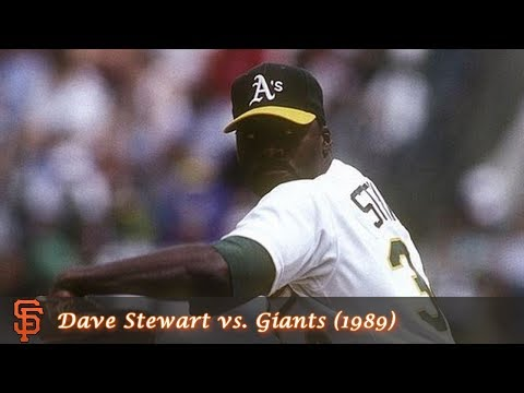 Oakland A's Pitching Performances Episode 3  Dave Stewart vs. Giants 1989