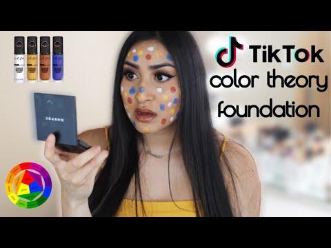 TESTING VIRAL TIK TOK COLOR THEORY FOUNDATION   Daniela Carbajal - YouTube