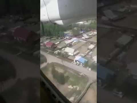 Пассажир снял момент крушения самолета в Нижнеангарске