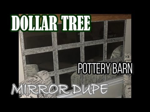 POTTERY BARN MIRROR DUPE | Dollar Tree DIY | FARMHOUSE DECOR