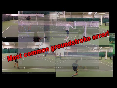 Most Common Tennis Forehand and Backhand Groundstroke Error