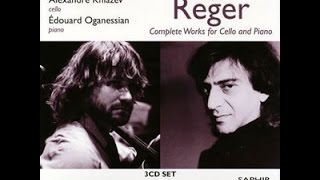 **♪レーガー:無伴奏チェロ組曲第1番ト長調op.131c-1 / アレクサンドル・クニャーゼフ(vc) 2009年5月