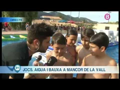Festa d'aigua a Mancor de la Vall dins les festes de Sant Joan