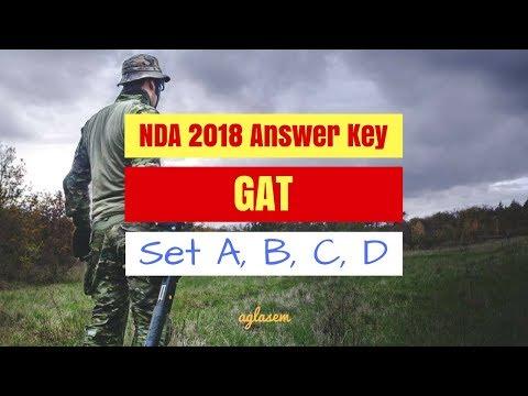 NDA 2018 Answer Key | NDA I 2018 GAT Answer Key