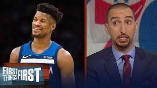 Nick Wright on how the Jimmy Butler trade impacts the Eastern Conference | NBA | FIRST THINGS FIRST