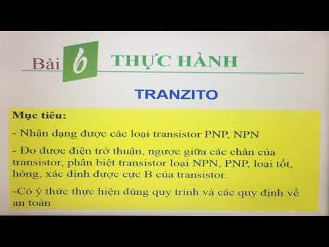 Bài 6: Thực hành Tranzito | Công nghệ 12
