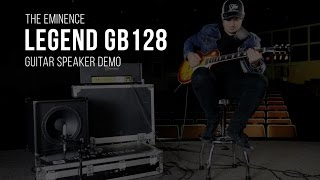 The Eminence Legend GB128 Guitar Speaker Demo