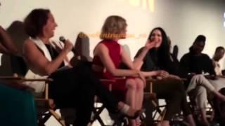 Taylor Schilling, Laura Prepon, Natasha Lyonne talking Beer Can Chicken at #OrangeCon 06/11/15