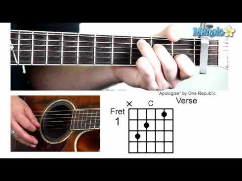 "How to Play ""Apologize"" by One Republic on Guitar"