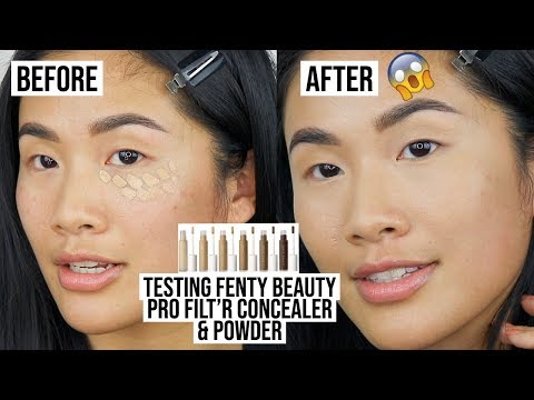 FIRST IMPRESSION FENTY BEAUTY PRO FILT'R CONCEALER AND POWDER. IS IT WORTH IT?
