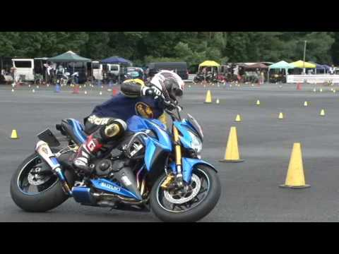 2017 7 23 Dunlop Moto Gymkhana King of Gymkhana Sakuta 選手 GSX-S1000 heat 2