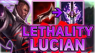 FULL LETHALITY LUCIAN ADC!! WHY CAN I ONE SHOT PEOPLE SO EARLY?! - Patch 7.14