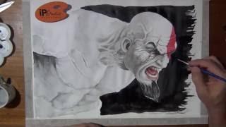 WIP - Desenhando o Kratos - speed drawing - Curso de Desenho IPStudio