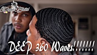 Natural Hair: How to get DEEP 360 WAVES!!!
