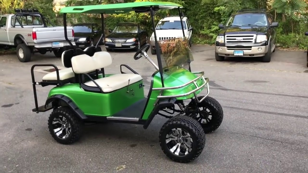 2001 Ezgo Monster Cart - 22hp Predator V-Twin Swapped - For Sale  Rides By  Ryan 05:06 HD