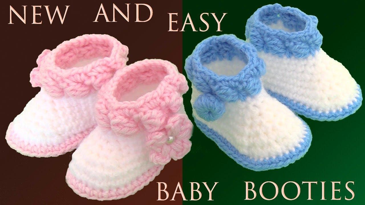 Zapatos A Crochet Para Bebes Niñas Y Niños Fáciles De Hacer Tejido Tallermanualperu Youtube