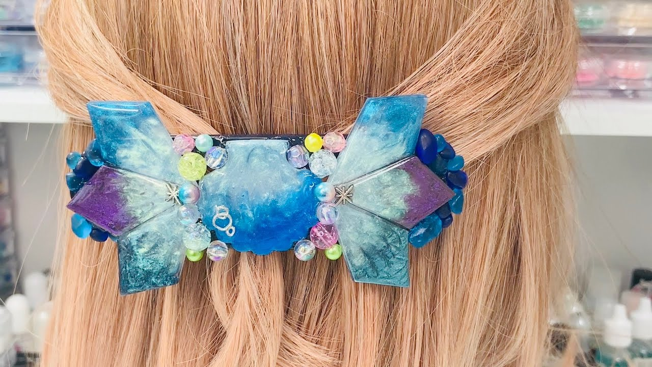 ≪UVれじんResin≫暑い日は髪留めをしたいよね!夏ぽい髪留めYou want to have your hair fastened on a hot day! Summery hair clip