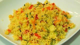 Receta facil de cuscus con verduras