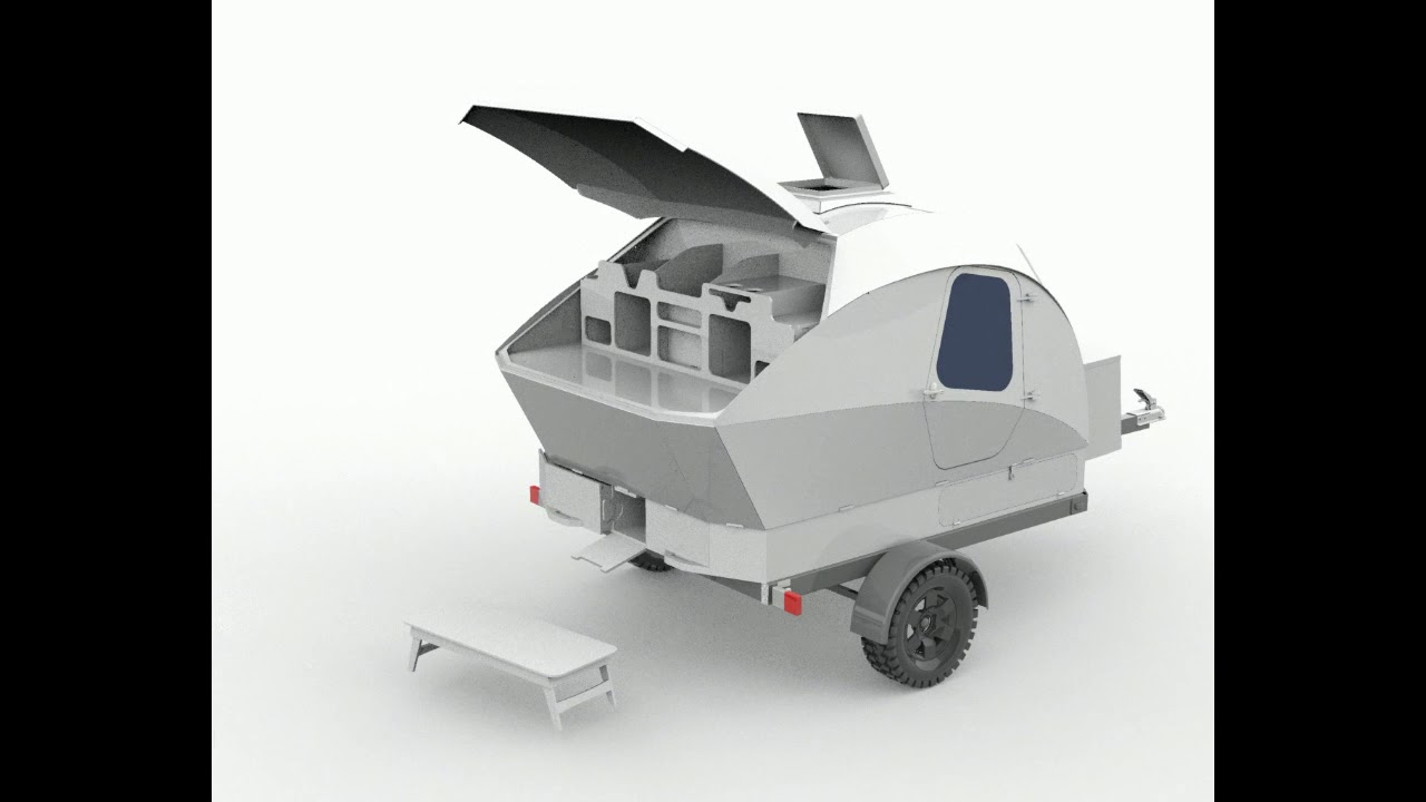 NEW: Integrated Cargo Carrier for CLC Teardrop Camper