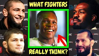 """What UFC fighters """"Really"""" think about Israel Adesanya ?"""