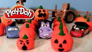 Disney Cars Dracula Mater at Pumpkin Patch Halloween 2013 Play Doh Pirate Lightning McQueen Sally