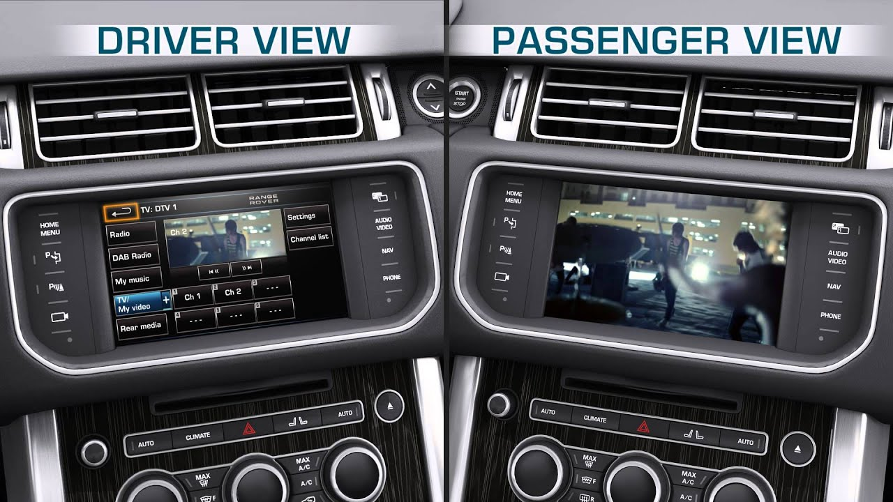 How to - Range Rover (2013) - Vehicle feature: Dual View ...