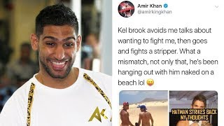 AMIR KHAN TROLLS KELL BROOK!!!