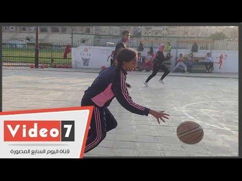 فتيات شمال سيناء يقبلن على رياضة السلة وتكوين أول فريق رسمى بالمحافظة  - 23:22-2018 / 5 / 17