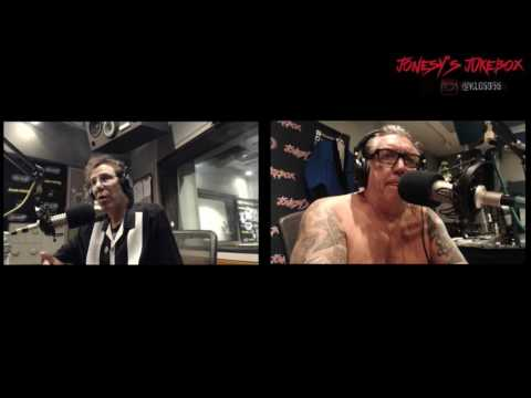 Slim Jim Phantom of the Stray Cats In-Studio on Jonesy's Jukebox