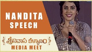 Nandita Swetha Speech Srinivasa Kalyanam Media Meet Nithiin, Raashi Khanna