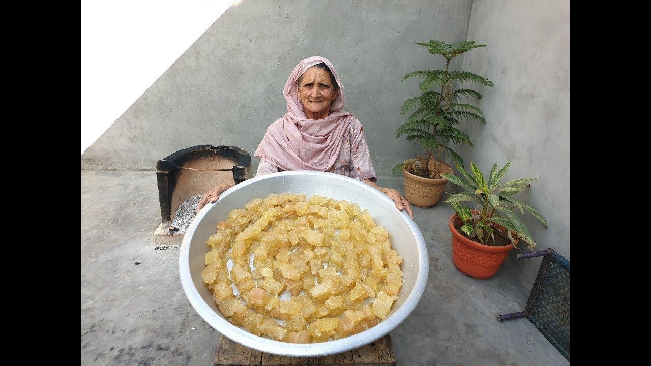 Download Petha Sweet Recipe Prepared By Grandma   पेठा बनाने की विधि     Agra Ka Petha Recipe   Village Food