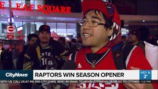Toronto Raptors win season opener
