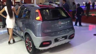 Fiat Punto Avventura Urban Cross Concept Video Walkaround from 2016 Auto Expo