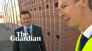 Persimmon CEO walks away from interview when asked about £75m bonus –  video