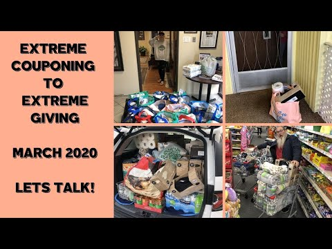EXTREME COUPONING TO EXTREME GIVING MARCH 2020~LETS TALK!